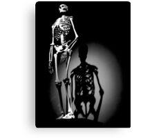 human anatomy t-shirt, human skeleton Canvas Print