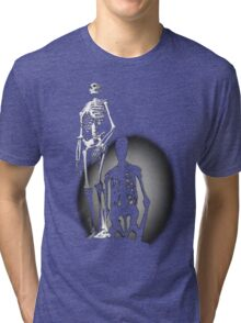 human anatomy t-shirt, human skeleton Tri-blend T-Shirt
