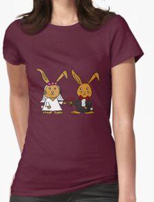 Cool Funny Bunny Rabbit Wedding Cartoon T-Shirt