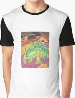Allosaurus vs Stegosaurus Graphic T-Shirt