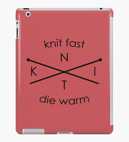 Knit Fast Die Warm iPad Case/Skin
