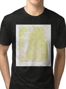 USGS TOPO Map Alabama AL Bishop 303257 1950 24000 Tri-blend T-Shirt