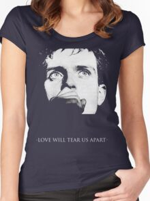 Ian Curtis - Love Will Tear Us Apart Women's Fitted Scoop T-Shirt