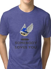 Blue Shell Mario Kart Tri-blend T-Shirt