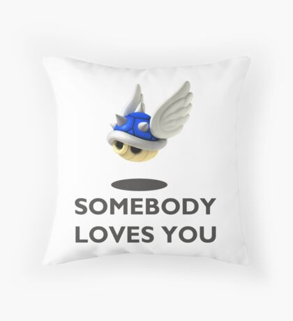 Blue Shell Mario Kart Throw Pillow