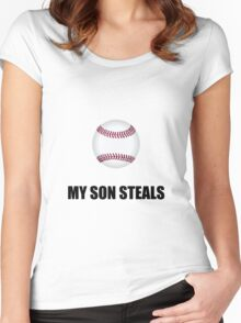 Son Steals Baseball Women's Fitted Scoop T-Shirt