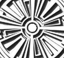 Haven Troubled Tattoo White Logo Sticker