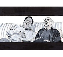 Curb Your Enthusiasm, Larry David and Jeff Garlin Photographic Print