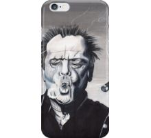 Jack Nicholson Smoke Ring iPhone Case/Skin