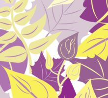 Leaves in Purple and Yellow Sticker