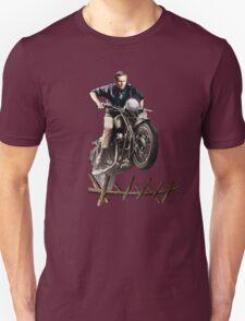 STEVE MCQUEEN GREAT ESCAPE vintage triumph motorcycle T-Shirt