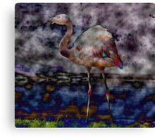 Acid + Flamingo Canvas Print