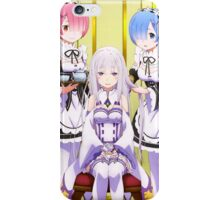 Emilia, Ram and Rem from Re:zero  iPhone Case/Skin