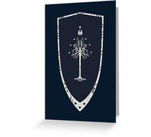 Lord Of The Rings - Gondor Shield Greeting Card
