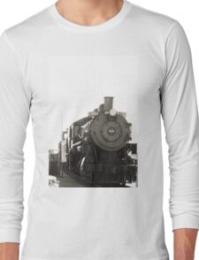 Railroaded - Black and White Long Sleeve T-Shirt