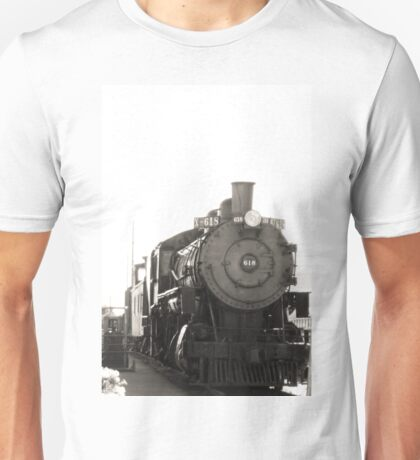 Railroaded - Black and White Unisex T-Shirt