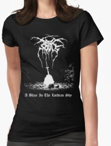 A Blaze in the Lordran Sky Womens Fitted T-Shirt