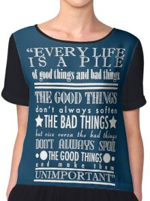 Doctor Who Quote Poster Chiffon Top