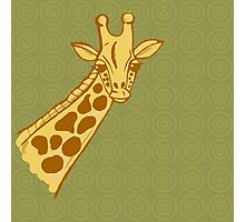 hand drawn giraffe Photographic Print