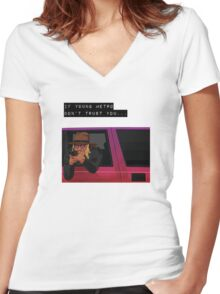 Metro Boomin Women's Fitted V-Neck T-Shirt