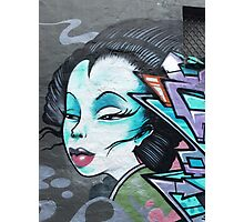 Geisha Street Art Graffiti Fashion Photographic Print