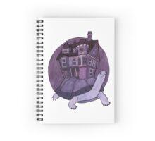 Purple Turtle House Spiral Notebook