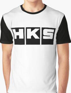 HKS Car Tuning Black Graphic T-Shirt