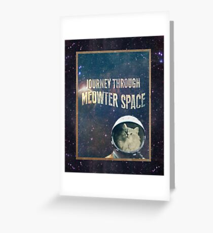 Journey Through Meowter Space Greeting Card
