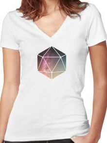 Galaxy of possibilities  Women's Fitted V-Neck T-Shirt