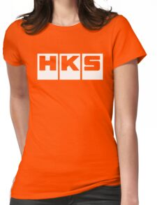 HKS Car Tuning White Womens Fitted T-Shirt