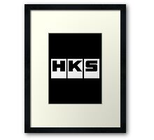HKS Car Tuning White Framed Print
