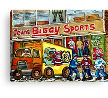 DISCOVER VERDUN BIGGY'S SPORTS STORE WELLINGTON STREET Canvas Print