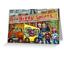 DISCOVER VERDUN BIGGY'S SPORTS STORE WELLINGTON STREET Greeting Card