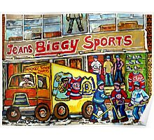 DISCOVER VERDUN BIGGY'S SPORTS STORE WELLINGTON STREET Poster