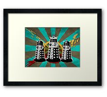 Doctor Who - Retro Daleks Framed Print