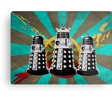 Doctor Who - Retro Daleks Metal Print
