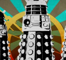 Doctor Who - Retro Daleks Sticker
