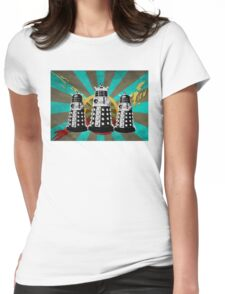 Doctor Who - Retro Daleks Womens Fitted T-Shirt
