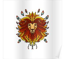 lion in ethnic style Poster