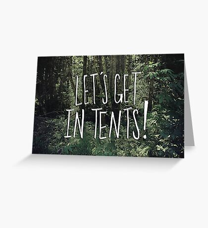 In Tents! Greeting Card