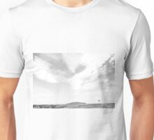 Distant Windmill - Black & White Unisex T-Shirt