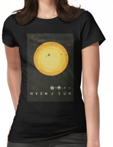 Planetary Arrangement Womens Fitted T-Shirt