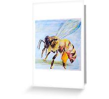 Honeybee - Collecting Pollen Greeting Card