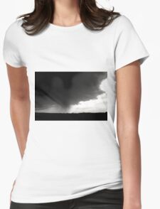 Storm Cloud - Black & White Womens Fitted T-Shirt