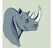 hand drawn rhinoceros Photographic Print