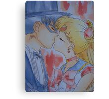 Tuxedo kiss Canvas Print