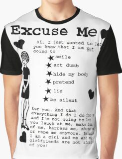EXCUSE ME RIOT GRRRL Graphic T-Shirt