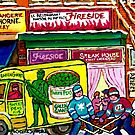 LOCAL DEPANNEUR VERDUN SHOP MONTREAL STREET HOCKEY ART by Carole  Spandau