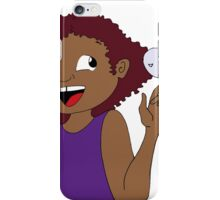 girl with ghost friend iPhone Case/Skin