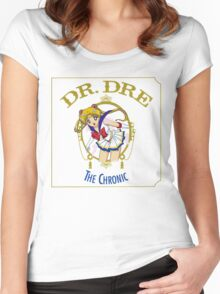 Sailor Moon Dr. Dre The chronic  Women's Fitted Scoop T-Shirt